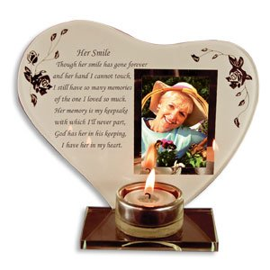 memorial photo frame with votive holder her smile 7 inch heart shape beautiful poem in the uae see prices reviews and buy in dubai abu dhabi