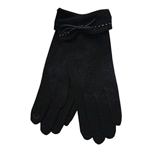 DJHbuy レディース 秋冬 防寒 ウール 手袋 アウトドア 通勤 通学 グローブ