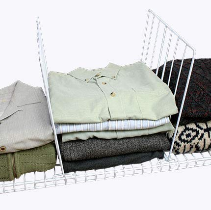 Covers For The Home Sturdy Wire Shelf Dividers - for Wired Shelves (4 pcs) (Closet Dividers Sweater)