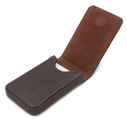 RFID Blocking Wallet - Minimalist Leather Business Credit Card Holder with Magnetic (Vertical Version Coffee)