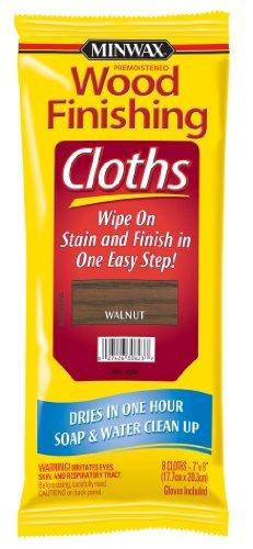 Minwax 30823 Wood Finishing Clothes, Walnut, 8-Pack by Minwax