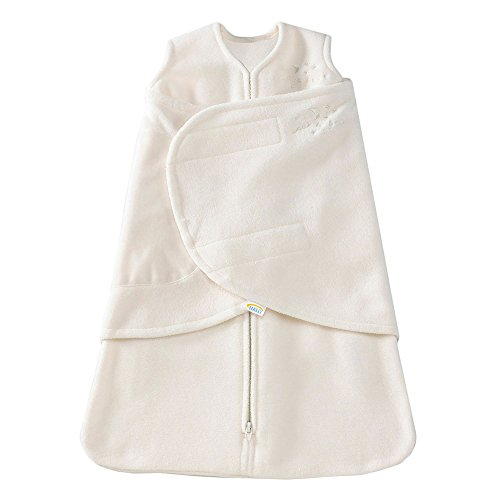 HALO SleepSack Micro-Fleece Swaddle, Cream, Newborn