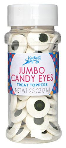 Festival Jumbo Candy Eyes Toppers, 2.5