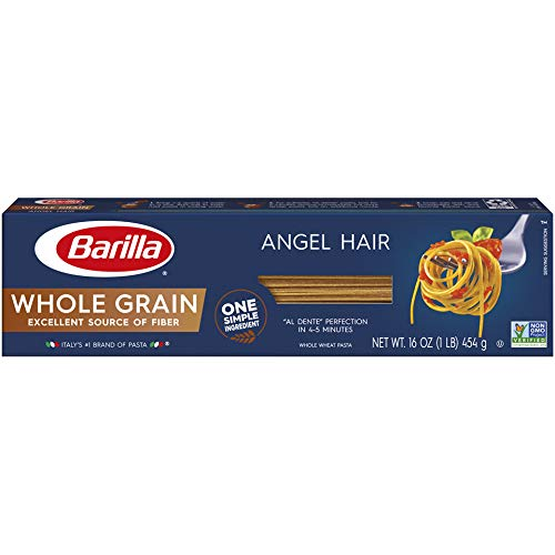 Barilla Whole Grain Pasta, Angel Hair, 16 oz