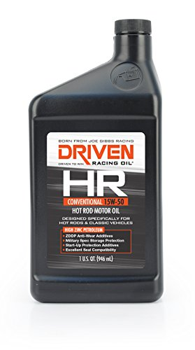 Joe Gibbs Driven Racing Oil 02106 HR-1 15W-50 Conventional Hot Rod Oil - 1 Quart Bottle