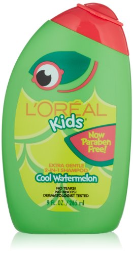 L'Oreal Kids Extra Gentle 2-in-1 Shampoo With a Burst of Watermelon, 9.0 Fluid Ounce (Gentle Tear)