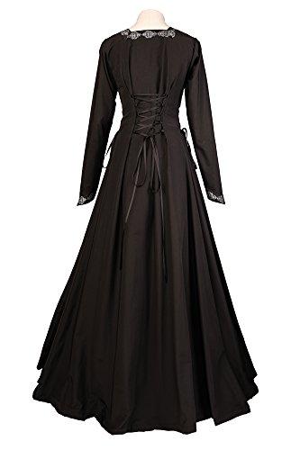 Dornbluth Dornbluth Mittelalterkleid Damen Damen Damen Estelle Schwarz Dornbluth Estelle Mittelalterkleid Schwarz Mittelalterkleid xwfq7607