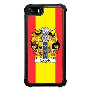 Baroja Family Crest Spanish Coat of Arms Click America Tuff Impact iPhone 5s Case