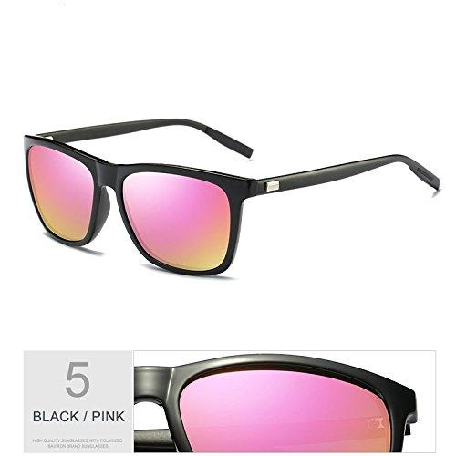 Pink De Gafas De Protección Black Hombres Nocturna Gafas Sol TIANLIANG04 Gafas Uv400 La De De Aluminio Patas De Visión Envuelva De Polarizadas Con Negro Cuadrados Verdeoscuro Guía Sol pnq6FO