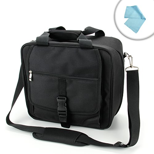 DuraPACK Wii U System Carrying Case Bag for Nintendo Wii U Console and Gamepad Controller- Includes Adjustable Shoulder Strap , Game Disc Pockets , and Accessory Pockets for for Pro Controllers , Sensor Bar , Nunchuk , Wii Remotes and More! *Includes Bonus Cleaning Cloth (Mario Gamecube Hori)