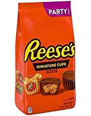 REESE'S Milk Chocolate Peanut Butter Cup Miniatures, Valentines Candy, Party Bag, Bulk candy, 2 Pounds