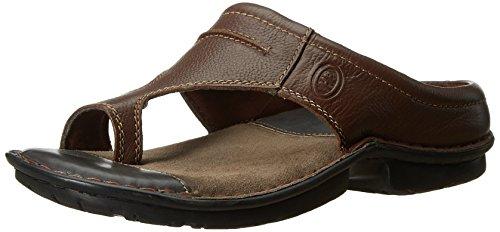 Hush Puppies Men's Decent Leather Flip Flops Thong Sandals