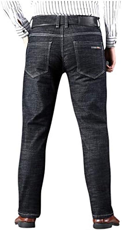 RANTA 2020 Męskie Jeans Hose Männer Basic Jeanshose Herbst Slim Fit Blau Schwarz Stretch Geschäft Pants Denim Baumwolle Hip Hop Lose Arbeit Lange Hosen Jeanshosen Lapis Wash: Odzież