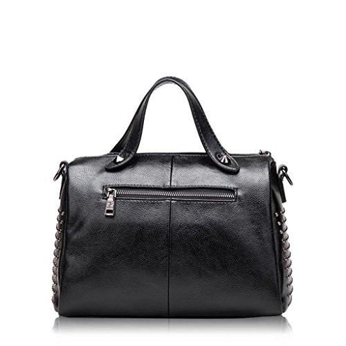 Lady Vache Peau Bag Sac Femelle Sacs Rivet CRR Messenger de Couleur 2 Portable 1 wSdXqCxC