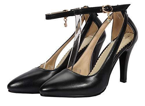 GMMDB010641 Flats Fibbia Luccichio Nero Tacco AgooLar Donna Puro Alto Ballet q0R8nt6xUw