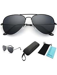 yufalling Aviator anteojos de sol polarizadas para hombres y mujeres
