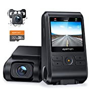 #LightningDeal APEMAN Dash Cam, Front and Rear Camera for Cars 1080P, SD Card Included, Support GPS, IPS Screen, Night Vision, 170°Wide Angle, Motion Detection, Loop Recording, G-Sensor, Parking Monitor, WDR