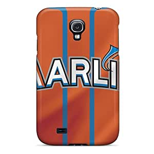 New Fashion Premium Tpu Case Cover For Galaxy S4 - Miami Marlins