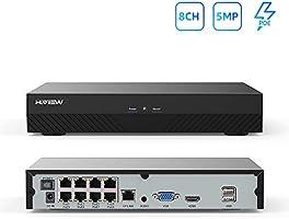 H.View 防犯録画機 NVRビデオレコーダー 5MP 4MP 3MP 2MP 8チャンネル H.265デジタルレコーダー 防犯レコーダー スマホ遠隔監視対応 日本語システム(HDDなし)