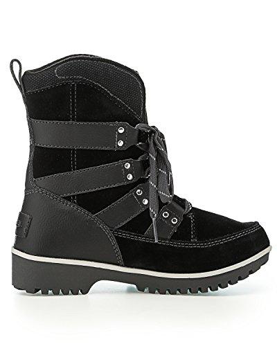 Pictures of Sorel Meadow Lace Winter Snow Boot Shoe - Black/dark Grey 5