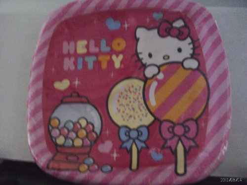(Hello Kitty Sweet Dessert Pocket Plates 8 Count)