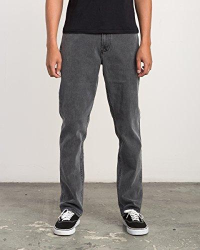 Vintage Gray Jeans (RVCA Men's Stay Denim Jean, Vintage Charcoal, 31)