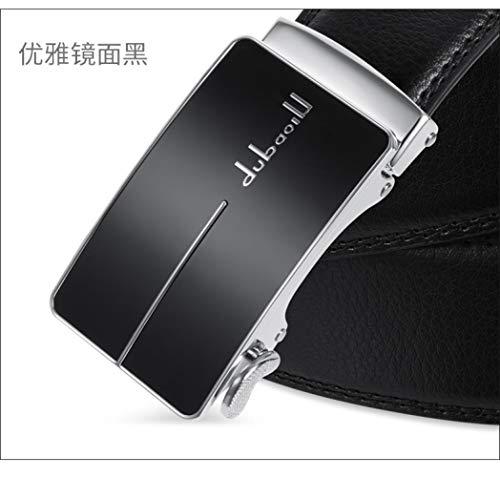[해외]Belt men`s leather belt automatic buckle Jeans Belt Jane Elegant Mirror Black / Belt men`s leather belt automatic buckle Jeans Belt Jane Elegant Mirror Black