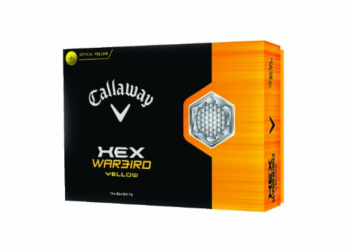 (Callaway HEX Warbird Golf Balls, Yellow,Pack of 12)