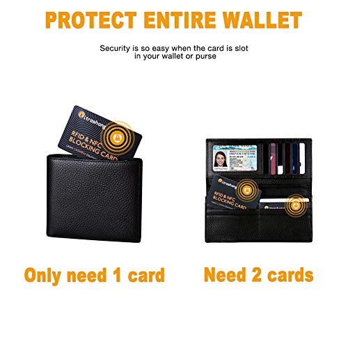 86a709eb5d0a 2Pcs RFID Blocking Card, Fuss-free Protection for Entire Wallet Shield,  Credit Card Protector NFC Bank Debit Blocker, Identity Theft Prevention for  ...