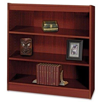 Safco Products 1502MHC Square-Edge Bookcase, 3 Shelf, Mahogany