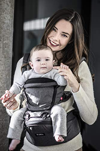 MiaMily Hipster+ Child & Baby Carrier, Perfect 360 Backpack Alternative for Hiking with 9 Carrying Positions and Ergonomic Design with Hip Protection for Toddler or Infant (Charcoal Grey) from MiaMily