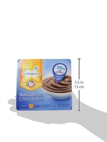DiaBalance Natillas Chocolate - Paquete de 4 x 100 gr - Total: 400 gr: Amazon.es: Alimentación y bebidas