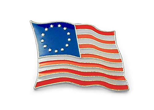 (Betsy Ross 13 Stars Flag Lapel Pin 7/8