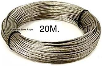 Easy outlet 20 m núcleo de acero de grosor fuerte jardín al aire libre gamuza de lavado de lavandería línea plástico PVC cuerda (x1): Amazon.es: Jardín