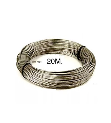 Easy outlet 20m Steel Core Thick Strong Garden Outdoor Laundry Washing Cloth Line Plastic PVC Coated Rope (x1) (1) china
