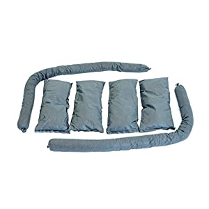 Cleanup Stuff Water Absorbent Kit Contains 2 Water Absorbing Hurricane Socks and 4 Water Absorber Sooker Pads