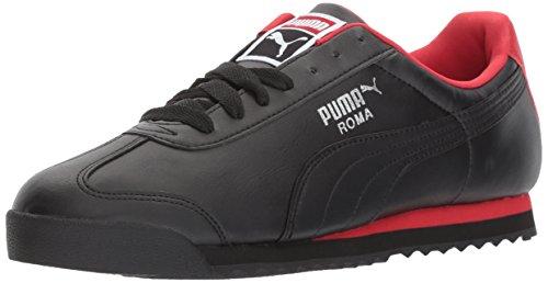 PUMA Men's Roma Basic Sneaker Black-Toreador, 9.5 M US