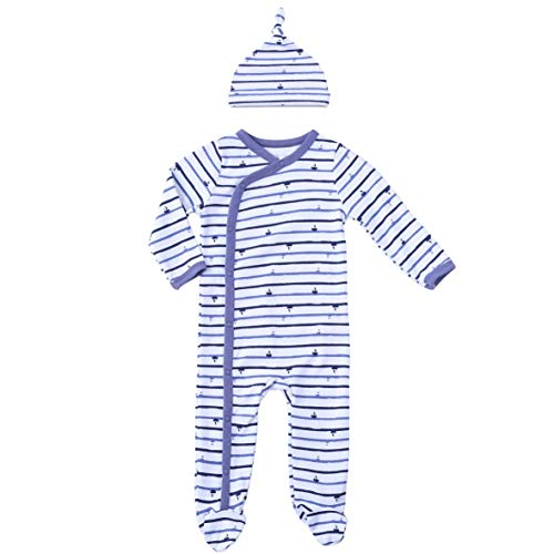 Infant Clothes Footed Pajamas Baby Sleeper Side Cotton Sail Outfits Snap Onesie