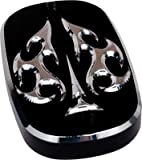 Precision Billet Aces Wild Upper Master Cylinder Cover - Black HD-ACE-DYNAUBRAKE-B