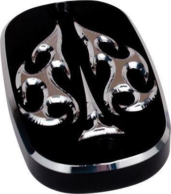 Precision Billet Aces Wild Upper Master Cylinder Cover - Black HD-ACE-DYNAUBRAKE-B
