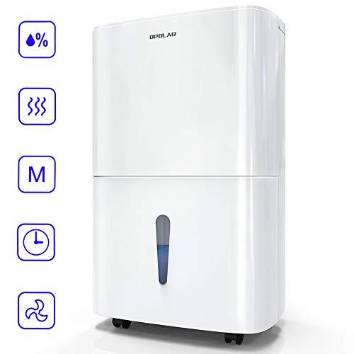 Full Timers - OPOLAR 70 Pint Dehumidifier Humidity & Timer Control, 7L Water Tank, Water-Full Auto Shut Off Basement, Home, Kitchen, Bedroom, Garage Drain Hose