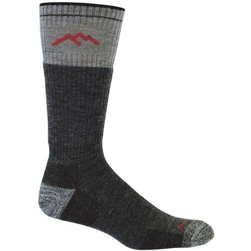 Darn Tough 1403 Men's Merino Wool Boot Sock Cushion, Black, Large (10-12) (Socks Mid Shoes Height)