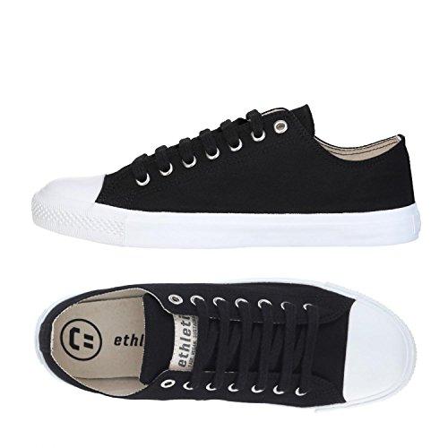 Ethletic Sneaker Vegan LoCut Collection 18 - Farbe Jet Black/White Aus Bio-Baumwolle