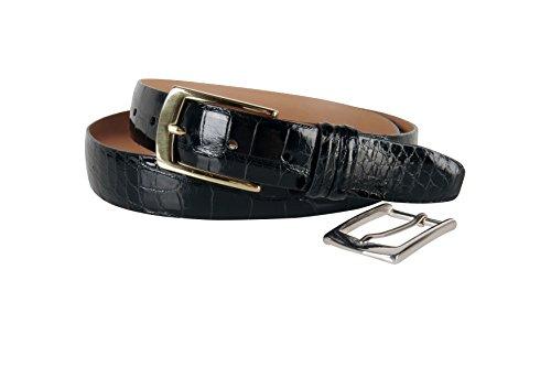 Trafalgar Men's Genuine Alligator Belt,Black,34