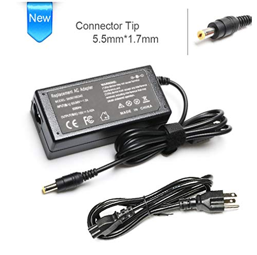 - N15Q1 Ac Adapter Laptop Charge for Acer Aspire E15 E5 E5-575 E5-521 R3 R3-471 Aspire 5 V5 V3 R7 M5 S3 E1 ES1 ES1-511 ES1-531 ES1-111M PA-1650-86 5742 5750 5349- 19V 3.42A 65w power Supply cord