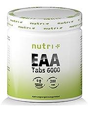 EAA-TABLETTER - 300 tabletter 1025 mg - MAXIMAL DOS - Essentiella aminosyror - EAA Neutral utan magnesiumstearat - veganskt aminosyratillskott