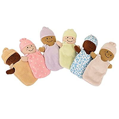 Basket of Babies Creative Minds Plush Dolls, Soft Baby Dolls Set, 6 Piece Set for All Ages: Industrial & Scientific