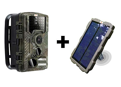 - Pet & Livestock HQ Hunting Trail Game Camera Solar Portable Battery Pack | 46PC IR Led |Night Vision|16 MP |1080p Video| Time Lapse | Waterproof|Spy Scout Wildlife & Home Surveillance Security Cam