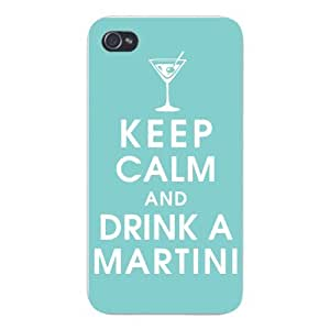 Apple Iphone Custom Case 5 5s Snap on - Keep Calm and Drink A Martini w/ Glass by icecream design