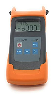 Premium Handheld Optical Power Meter with 10mW Visual Fault Locator & Fiber Optic Laser Cable Tester. -50 to +26dBm. Includes ENGLISH Instructions - Commercial QUALITY from PacSatSales